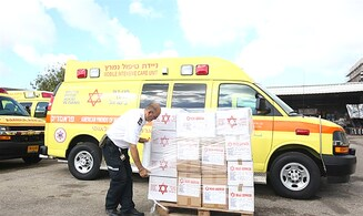 Magen David Adom sends 2,000 protective masks to Chabad of China